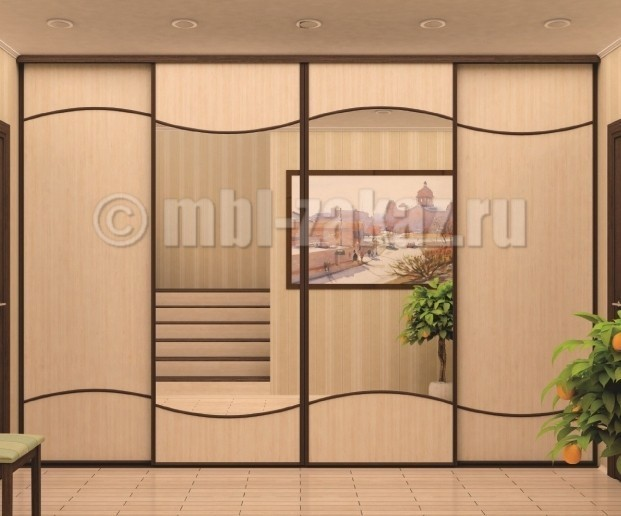 Встроенный шкаф вокруг двери заказать